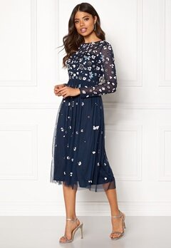 AngelEye Flower Embellished Dress Navy Bubbleroom.fi