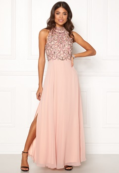AngelEye High Neck Sequin Dress Pink Bubbleroom.fi