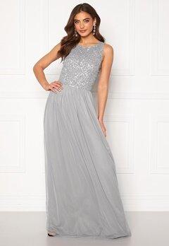 AngelEye Sequin Bodice Maxi Dress Grey Bubbleroom.fi