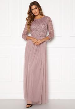 AngelEye Sequin Bodice Maxi Dress Lavender Bubbleroom.fi