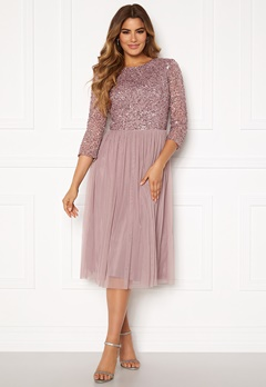 AngelEye Sequin Bodice Mid Dress Lavender Bubbleroom.fi