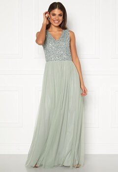 AngelEye Sequin Bodice V-Neck Maxi Dress Lily Bubbleroom.fi