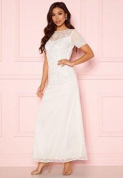 AngelEye Sequin Embellished Dress White Bubbleroom.fi