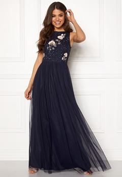 AngelEye Sequin Embroidered Dress Navy Bubbleroom.fi