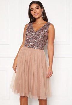 AngelEye Sequin Skater Dress Cameo Rose Bubbleroom.fi