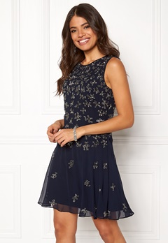 AngelEye Sequin Skater Dress Navy Bubbleroom.fi