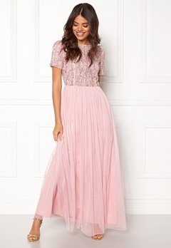 AngelEye Short Sleeve Sequin Dress Pink Bubbleroom.fi