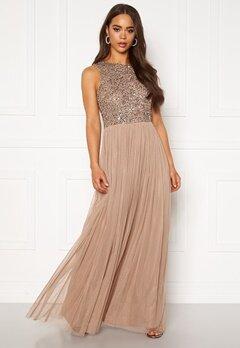 AngelEye Sleeveless Sequin Dress Taupe Bubbleroom.fi