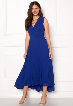 AngelEye Sleeveless Wrap Dress Blue Bubbleroom.fi