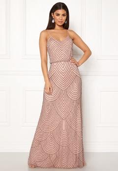 AngelEye Strappy Sequin Maxi Dress Cameo Rose Bubbleroom.fi
