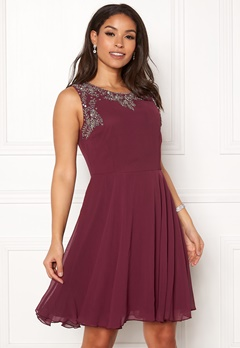 AngelEye Sweetheart Skater Dress Burgundy Bubbleroom.fi