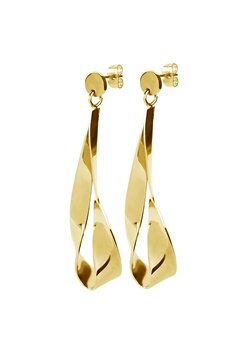 Dyrberg/Kern Arc Shiny Earrings Gold Bubbleroom.fi