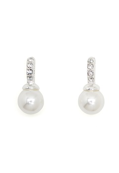 SNÖ of Sweden Astrid Earrings White Bubbleroom.fi