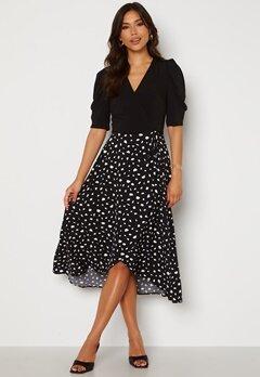 AX Paris 2 For 1 Wrap Front Dress Black Bubbleroom.fi