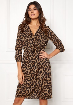AX Paris Animal Print Wrap Dress Multi Bubbleroom.fi