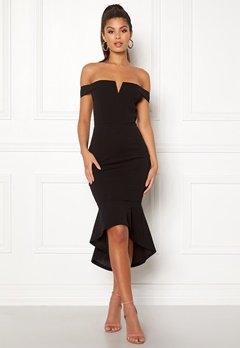 AX Paris Bardot Fishtail Dress Black Bubbleroom.fi