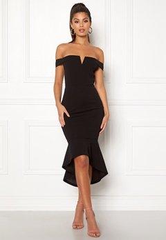 AX Paris Bardot Fishtail Dress Black Bubbleroom.fi