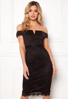 AX Paris Bardot Lace Midi Dress Black Bubbleroom.fi