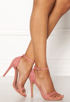 AX Paris Barely There Sandals Blush Suede Bubbleroom.fi