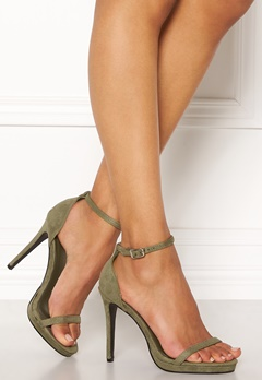 AX Paris Barely There Sandals Khaki Suede Bubbleroom.fi