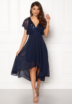 AX Paris Batwing Sequin Top Dress Navy Bubbleroom.fi