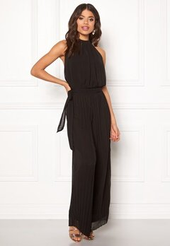 AX Paris Blouson Pleated Jumpsuit Black Bubbleroom.fi