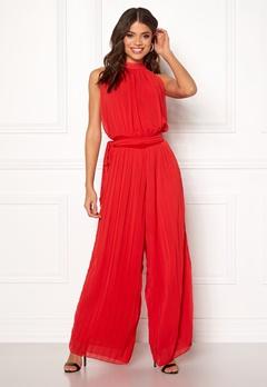 AX Paris Blouson Pleated Jumpsuit Red Bubbleroom.fi