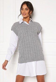 AX Paris Cable Knit Tank Top Grey Bubbleroom.fi