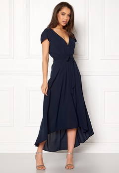 AX Paris Cap Waterfall Dress Navy Bubbleroom.fi