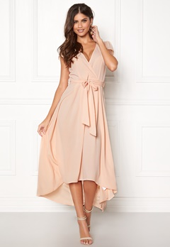 AX Paris Cap Waterfall Dress Nude Bubbleroom.fi