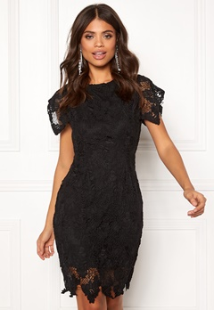 AX Paris Crochet Midi Dress Black Bubbleroom.fi