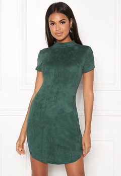 AX Paris Faux Suede Mini Dress Green Bubbleroom.fi