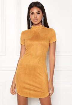 AX Paris Faux Suede Mini Dress Mustard Bubbleroom.fi