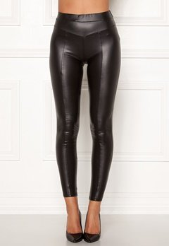 AX Paris Faux Leather PU Leggings Black Bubbleroom.fi