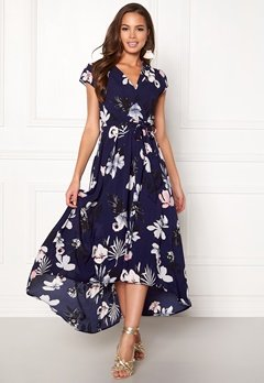 AX Paris Floral Cap Sleeve Dress Navy Bubbleroom.fi