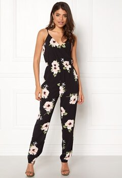 AX Paris Floral Print Jumpsuit Black Bubbleroom.fi