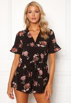 AX Paris Floral Print Playsuit Black Bubbleroom.fi