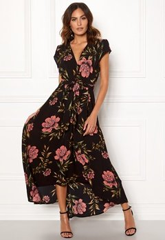 AX Paris Floral Waterfall Dress Black Bubbleroom.fi