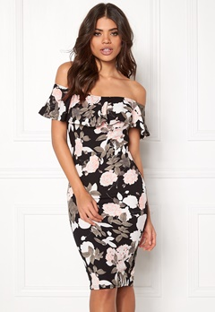 AX Paris Frill Bodycon Dress Multi Bubbleroom.fi