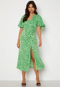AX Paris Heart Print Midi Dress Green bubbleroom.fi