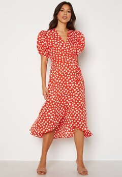 AX Paris Heart Print Midi Dress Red bubbleroom.fi