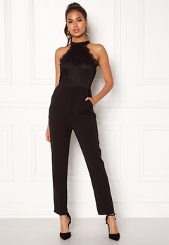 AX Paris High Neck Bodice Jumpsuit Black Bubbleroom.fi