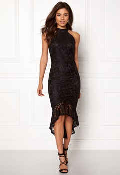 AX Paris High Neck Frill Dress Black Bubbleroom.fi