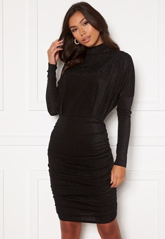 AX Paris High Neck Rough Sparkle Dress Black Bubbleroom.fi