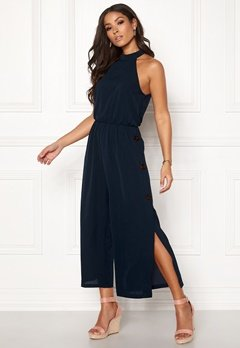 AX Paris Highneck Culotte Jumpsuit Navy Bubbleroom.fi