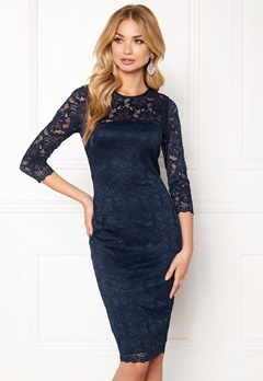 AX Paris Lace Bodycon Midi Dress Navy Bubbleroom.fi