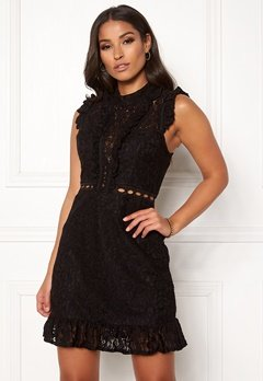 AX Paris Lace Frill Mini Dress Black Bubbleroom.fi