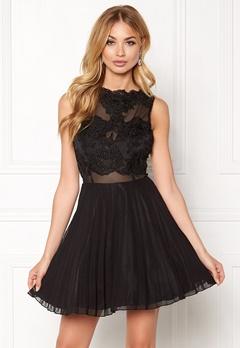 AX Paris Lace Top Skater Dress Black Bubbleroom.fi