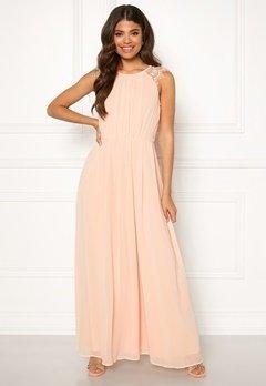 AX Paris Lace Trim Chiffon Maxi Dress Nude Bubbleroom.fi