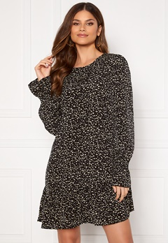 AX Paris Long Sleeve Shift Dress Black Bubbleroom.fi